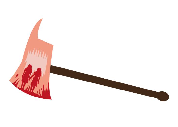 Hache de Shining (détail de l'affiche) - vector illustration