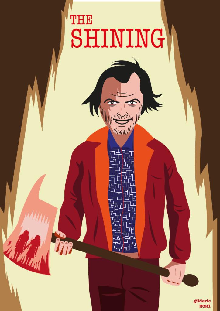 The Shining de Kubrick - alternative poster - vector illustration
