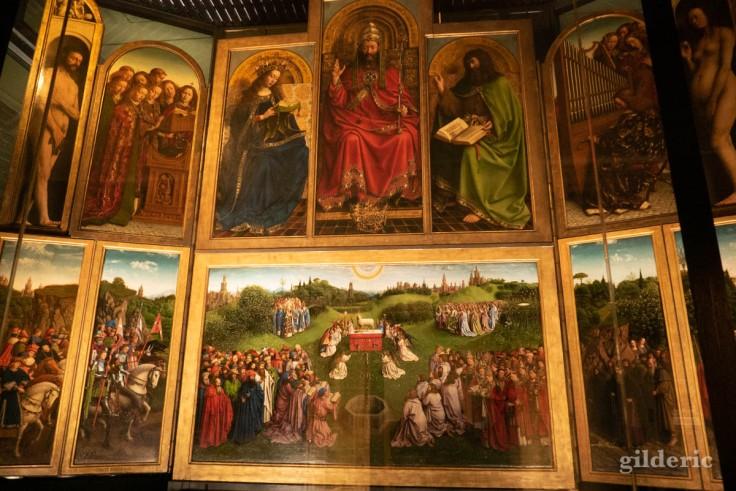 Retable de l'Agneau mystique de Jean Van Eyck (Saint-Bavon, Gand)