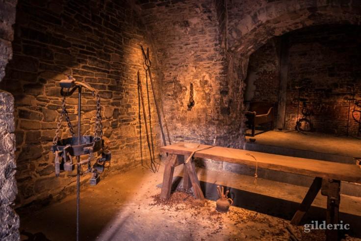 La salle de torture, dans la crypte du Chateau des Comtes (Gand)