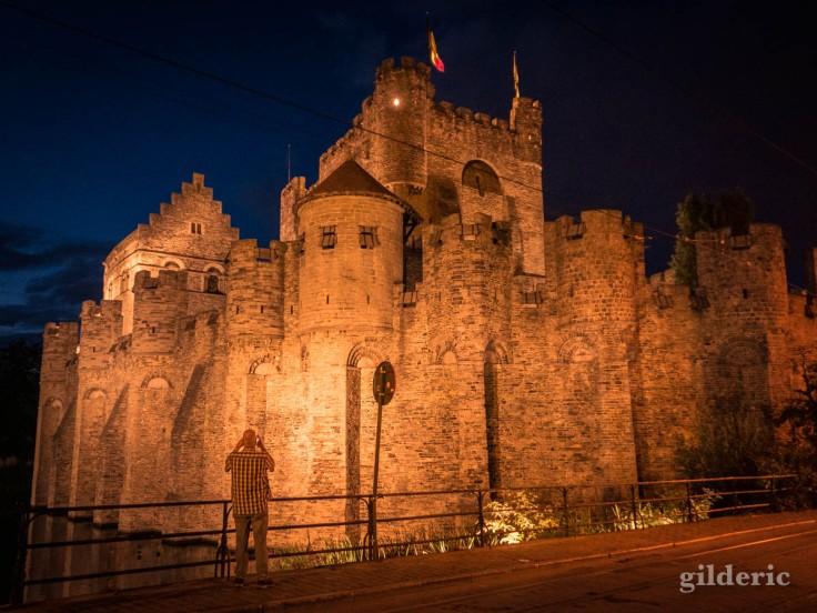 Gand : le Gravensteen (vu de nuit)
