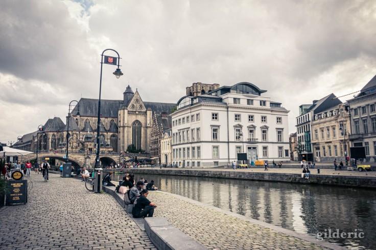 Visiter Gand : Graslei, vue d'ensemble