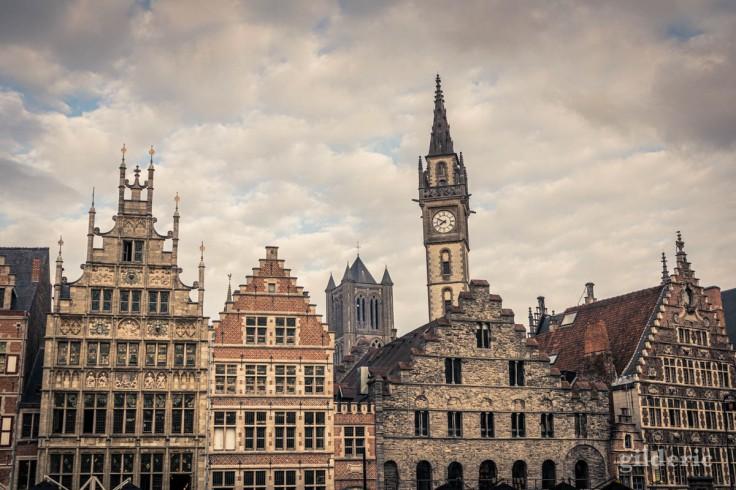 Visiter Gand : Graslei (détail des architectures)