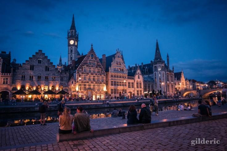 Balade à Gand le soir : les lumières du coeur historique
