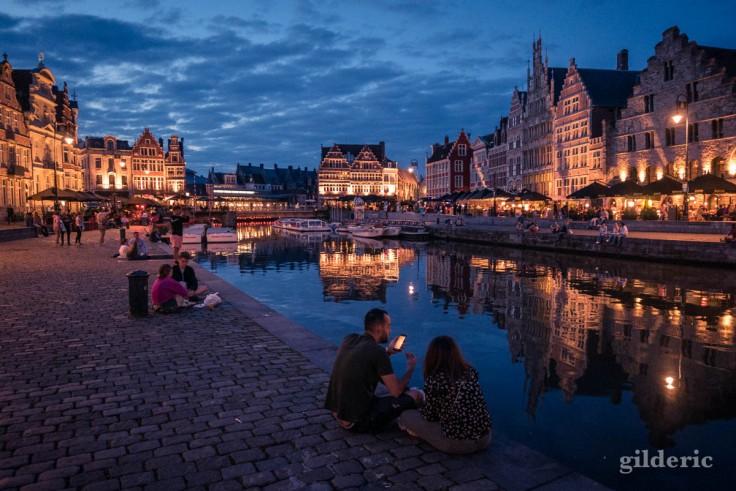 Visiter Gand la nuit : romantique Graslei