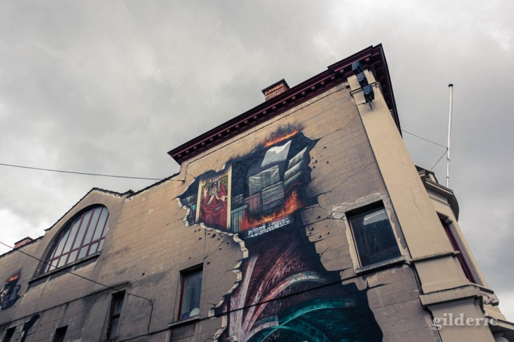 Street art Van Eyck à Gand