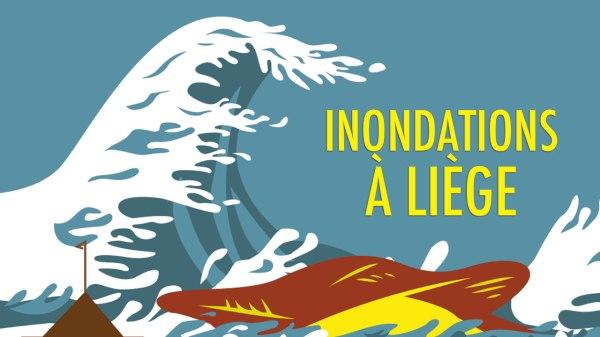 Inondations à Liège : dessins et photos