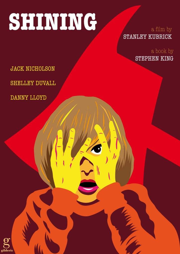 Poster alternatif Shining - Variant Danny -vector illustration