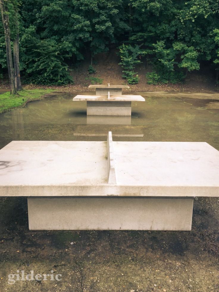 Tables de ping-pong inondées - Fort de la Chartreuse