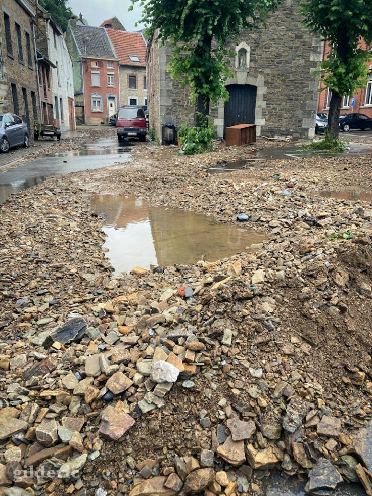 Dégâts des inondations à Theux