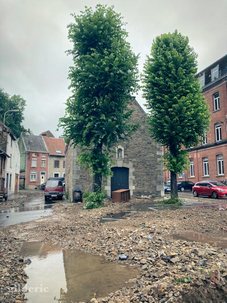 Après les inondations à Theux