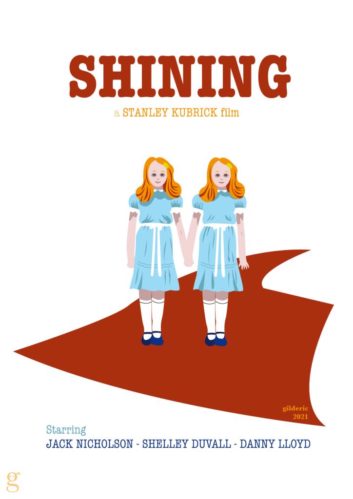 Les soeurs Grady - affiches alternative Shining -vector design