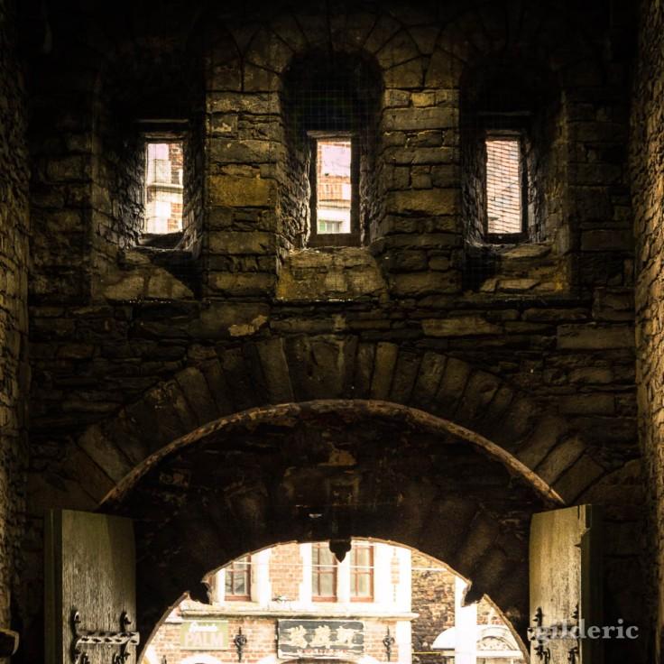 Entrée du Château des Comtes (Gravensteen) à Gand