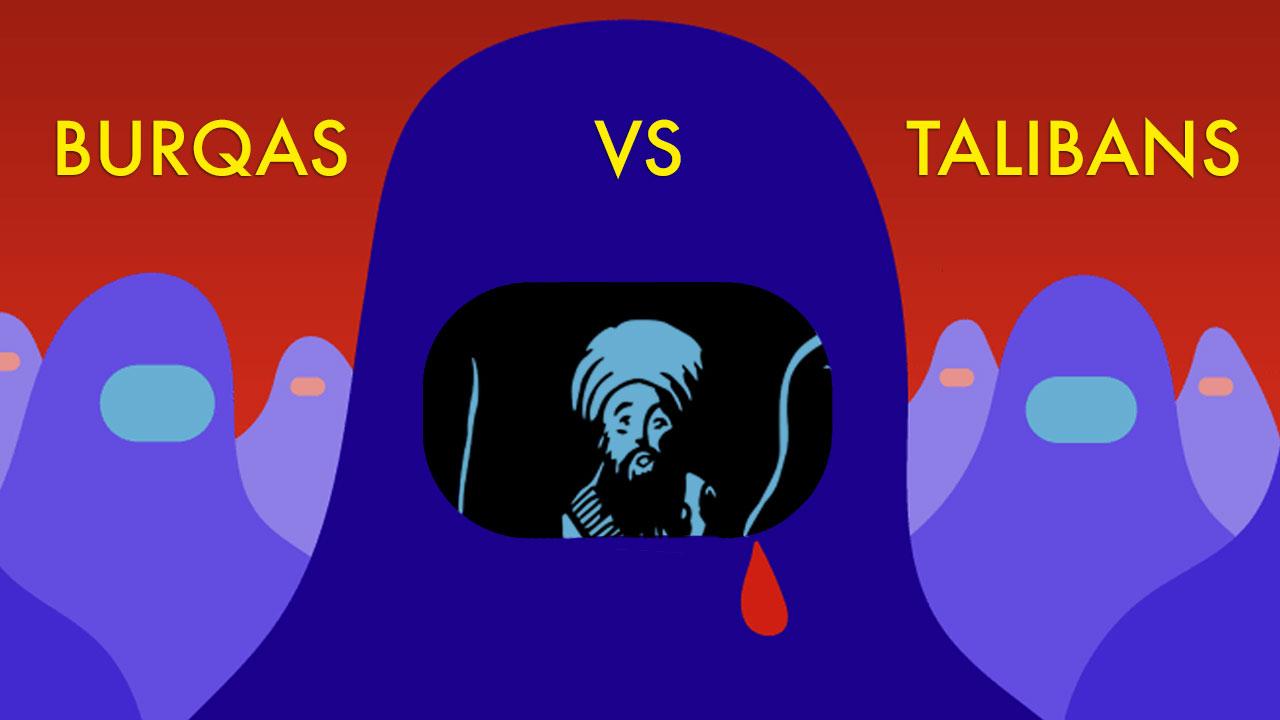 Burqas vs Talibans : dessins d'humeur