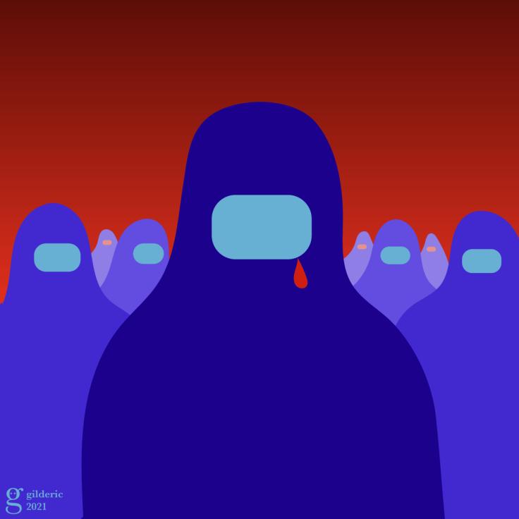 Burqas à Kaboul -illustration vectorielle