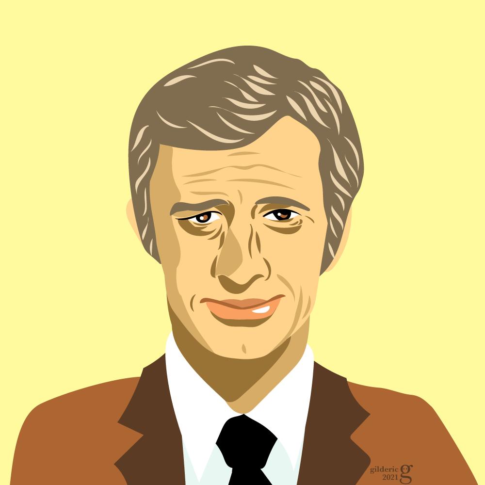 Jean-Paul Belmondo : portrait (illustration vectorielle)