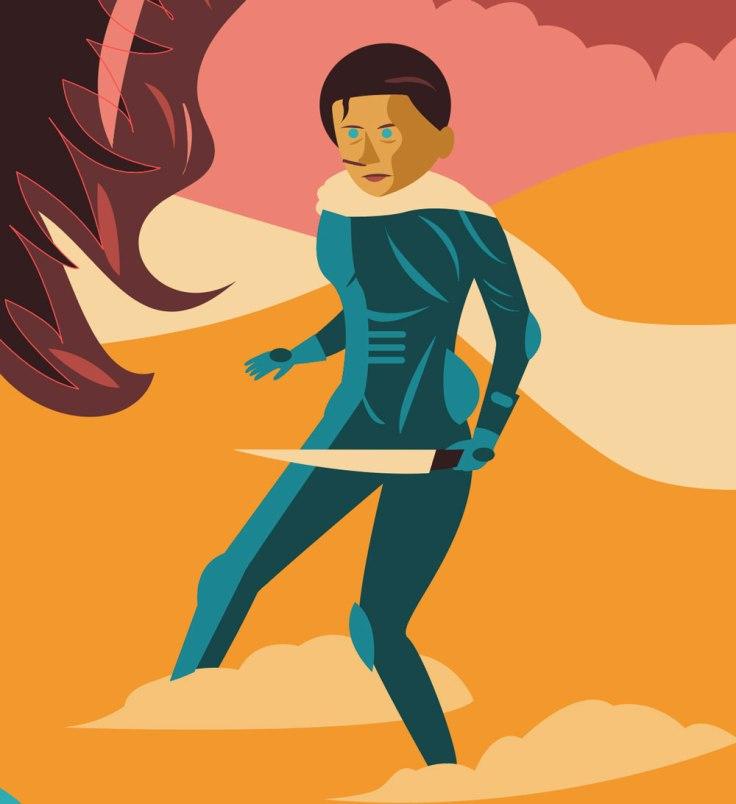 Chani, la jeune Fremen de Dune - dessin vectoriel