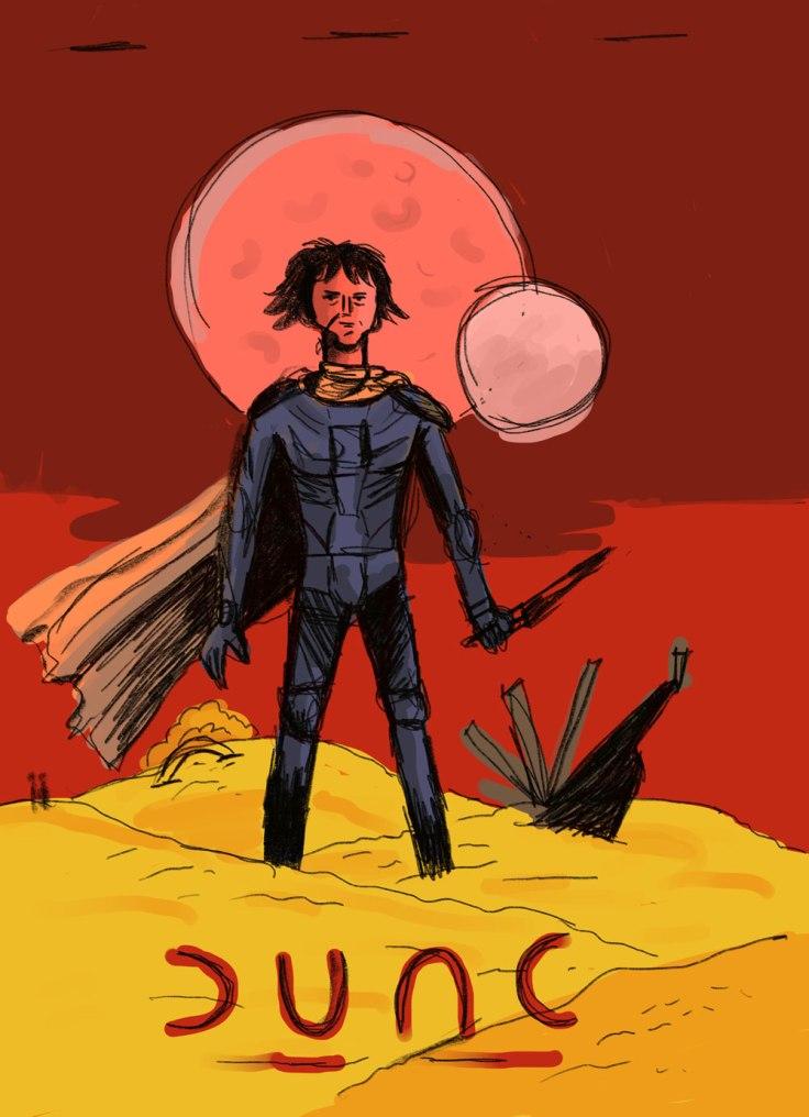 Dune (2021) de Denis Villeneuve - dessin sur Procreate